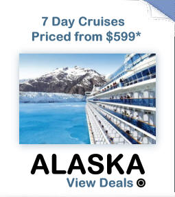From the majestic tip of Mt. McKinley to the spectacular icefields of Glacier Bay, Alaska is unlike any other place in the world. There's no better way to see its pristine waters, snowy mountains, awesome humpback whales, and forest-covered islands than on a cruise. Colorful ports of call include the historic gold rush village of Ketchikan, as well as Juneau, Alaska's capital city. The untamed beauty, the vast land, and the abundant wildlife, make for a cruise experience that's truly unforgettable.
