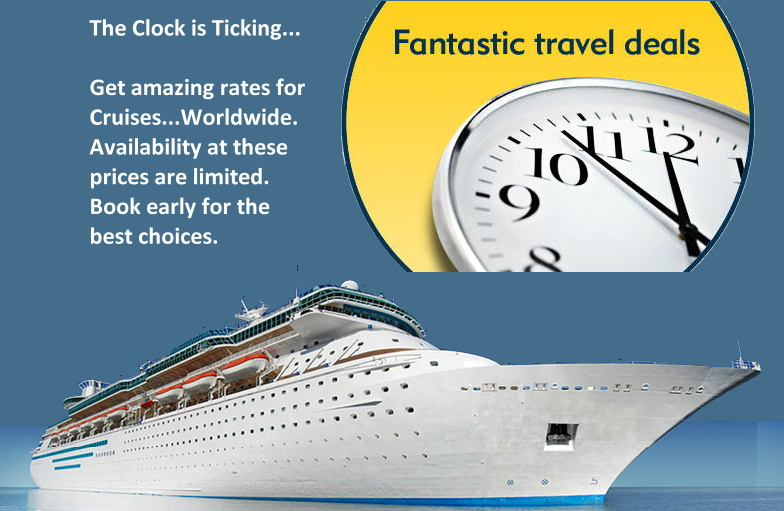 Get amazing rates for cruises...worldwide. Availability at these prices are limited. Book early for the best choices.
